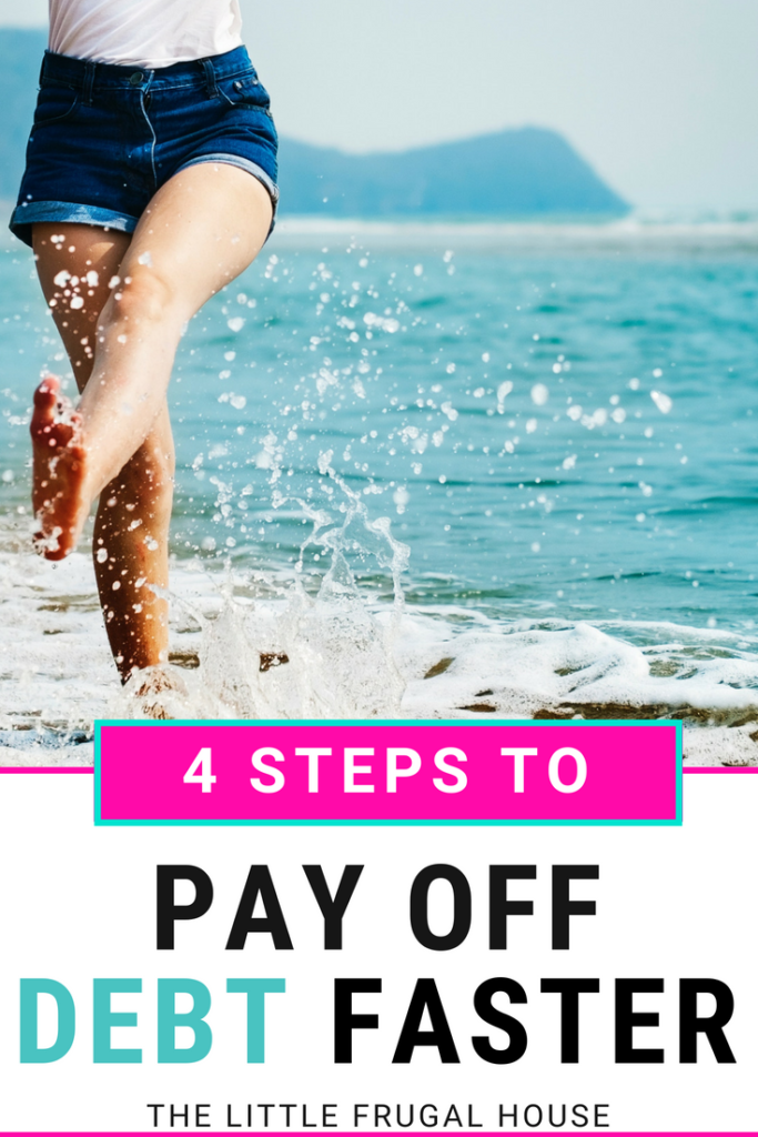 Just imagine the possibilities of a debt free life. What does that look like to you? Here's the 4 step system we are using to pay our debt off faster: