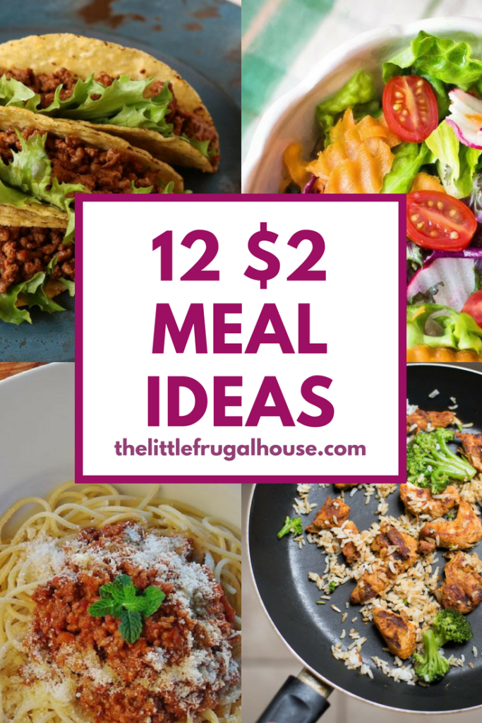 Looking for ways to save money on home cooked meals? $2 per person meals are great for quick, easy, and cheap meal ideas to feed your family on a budget.