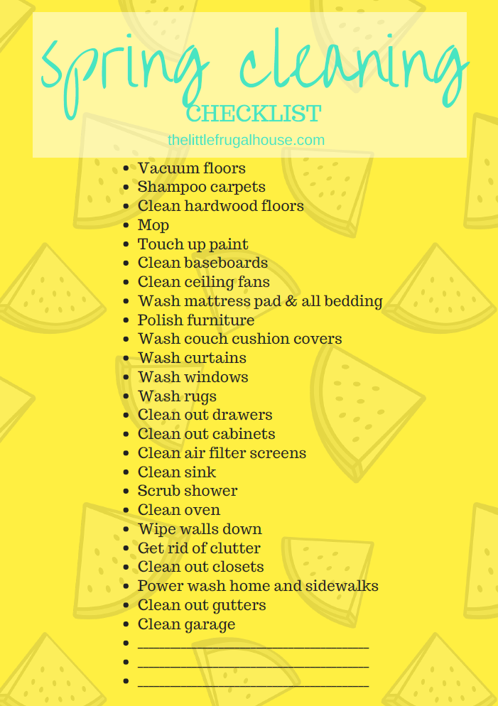 FREE Spring Cleaning Checklist & Planner Printable