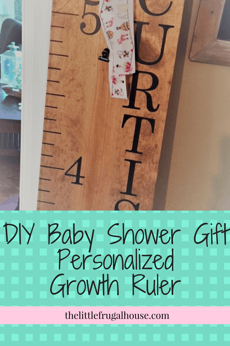 Diy Baby Shower Gift Personalized Growth Ruler