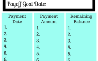 FREE Debt Payoff Tracker Printables
