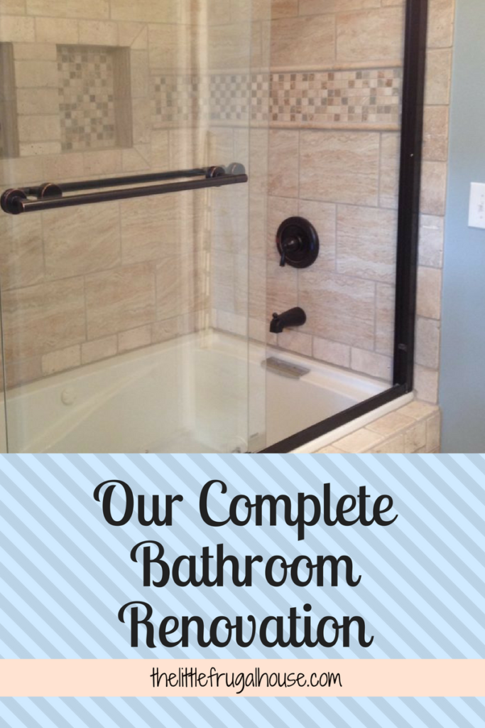 Our Complete Bathroom Renovation The Little Frugal House