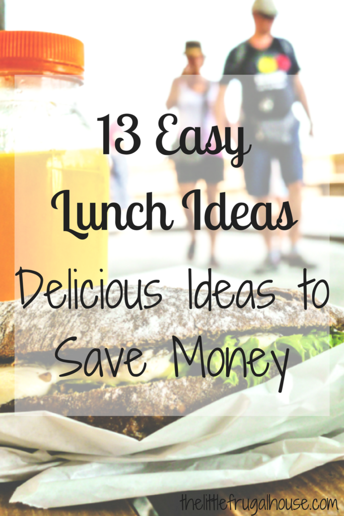 Easy lunch ideas to break away from the drive thru. Try one of these 13 easy lunch ideas to pack your own lunch and save money!