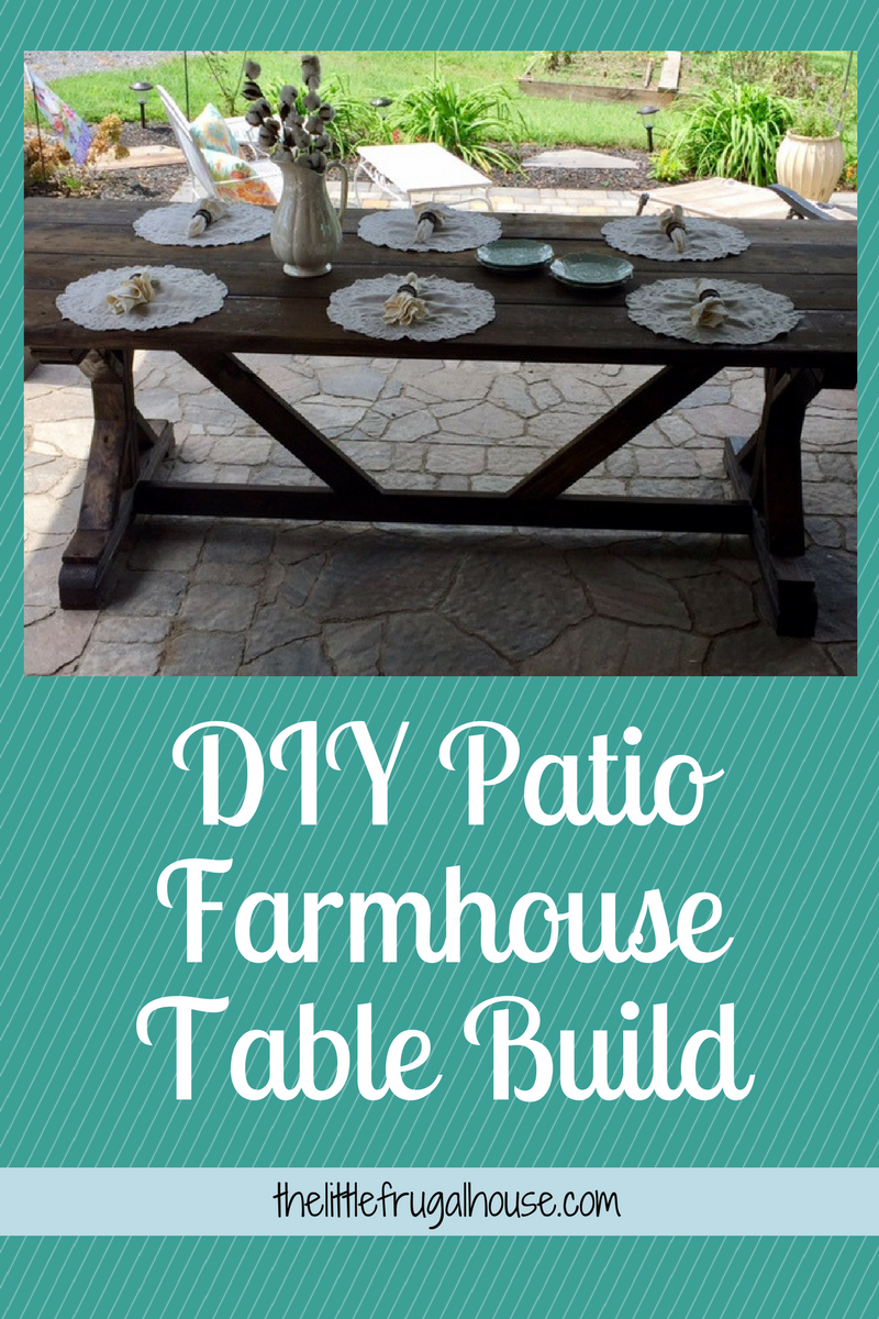 Build Your Own Patio Farmhouse Table With This Easy Plan And Only $65! I  Love