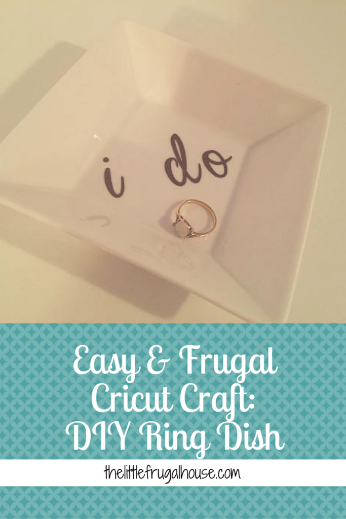 Make an easy DIY Ring Dish for yourself and as sweet, frugal gifts! These are so easy and cheap to make! About $1 each!! Try it today!