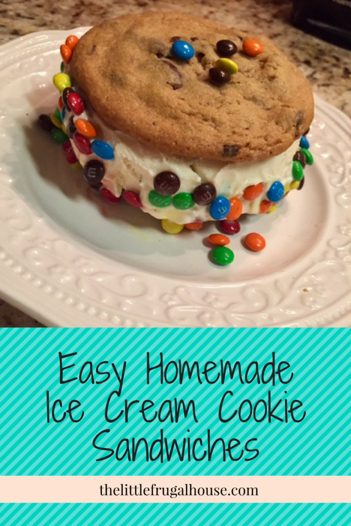 Homemade Ice Cream Cookie Sandwiches - Cookies, ice cream, and M&M's all in one? Yes, give me the most delicious, over the top treat!!
