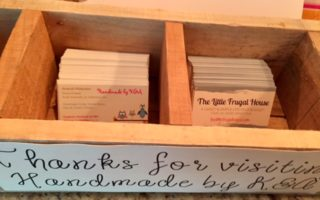 Craft Fair Booth Display: Thanks for Visiting Box
