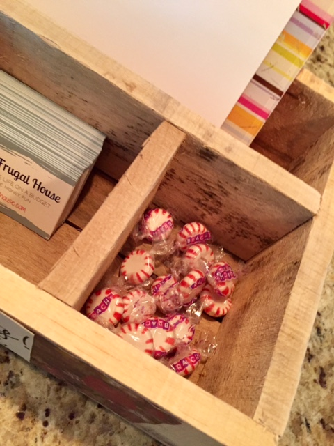 A DIY box to give your craft fair booth display a little something extra! Keep your promotional products organized in a thanks for visiting box!