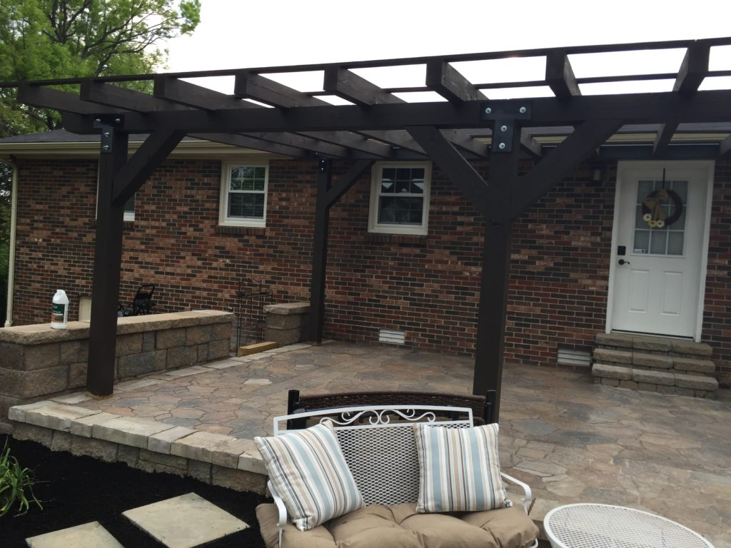 A DIY Patio Build on a budget. Check out how we built this patio on a limited budget and with limited supplies! A beautiful outdoor space!