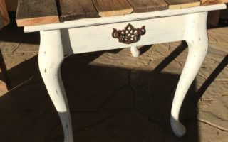 A Rustic Side Table Makeover
