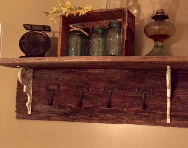 Diy barn wood coat rack the little frugal house for Where can i buy old barn wood