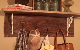 DIY Barn Wood Coat Rack