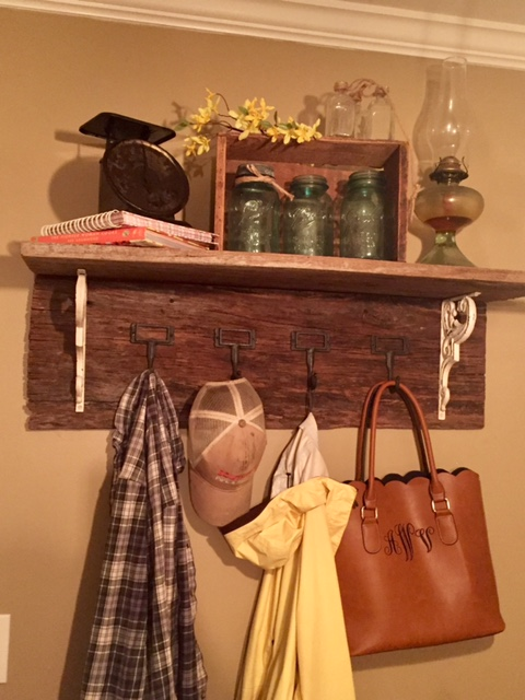 DIY Barn Wood Coat Rack The Little Frugal House Delectable How To Make Your Own Coat Rack