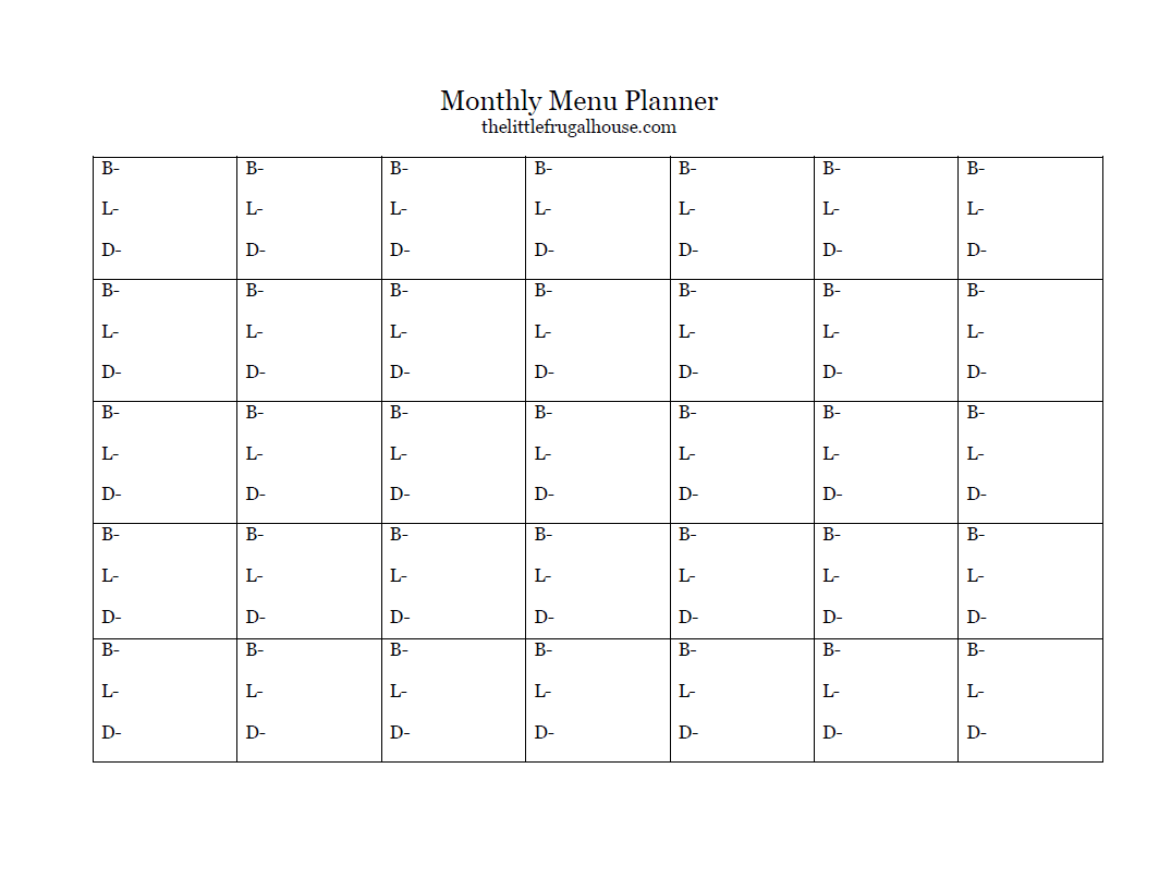 monthly meal planning with a free planner printable the little