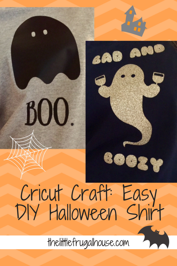 Trying to DIY and save this Halloween season? Check out this DIY Halloween Shirt and make your own personalized iron on tshirt!