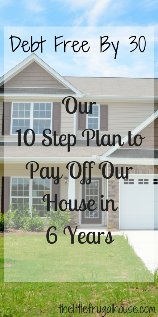 We are on track to pay off our house in a year and a half from now. This is our 10 step plan to pay off our house and be debt free by 30. Join us?!