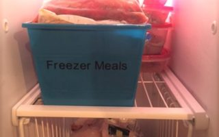 Dollar Tree Freezer Organization