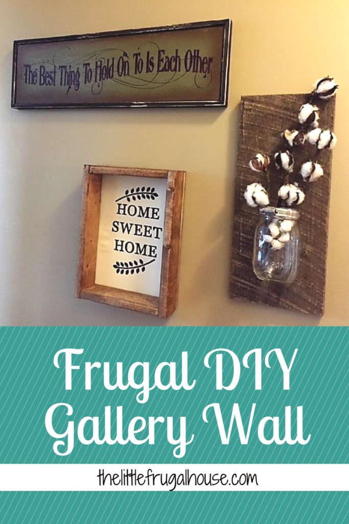 Trying to decorate a small home can be challenging. This frugal DIY gallery wall was super easy and added much needed character to our home!