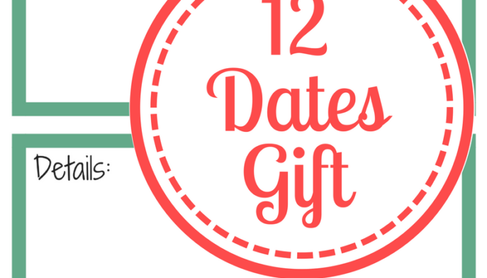 12 Dates Gift – Free Printable Pack!