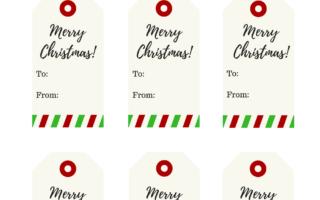 Free Christmas Gift Tags! – Printable Merry Christmas Gift Tags