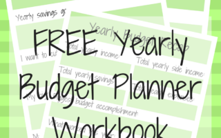 A New Year, A New Budget – Free Yearly Budget Planner