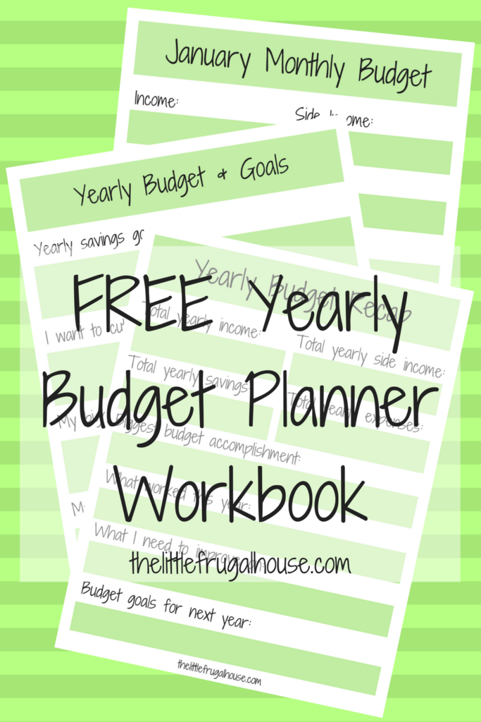 a new year a new budget free yearly budget planner the little