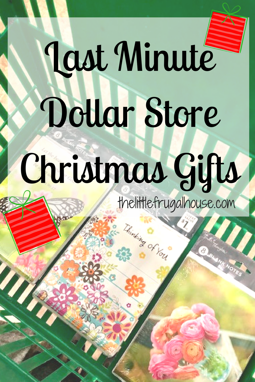 15 last minute dollar store christmas gifts the little frugal house. Black Bedroom Furniture Sets. Home Design Ideas