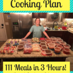 Monthly Freezer Cooking Plan – Make 111 Meals in 3 Hours