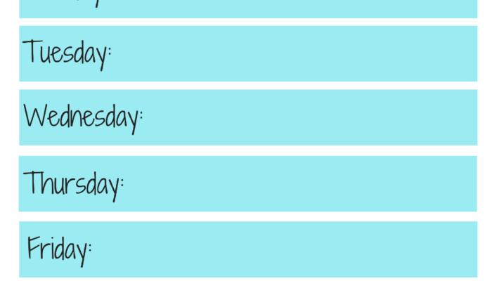 Weekly Workout Plan U2013 Free Workout Planner Printable