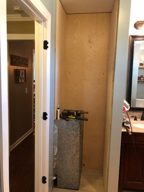 We Measured The Vacuum And Made Sure To Make A Little Cabinet That Would Be  The Perfect Place To Store The Vacuum Cleaner And Mop. The Bottom Right  Cabinet ...