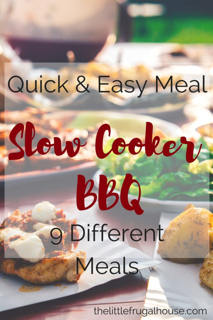 Do you need a quick and easy meal that turns into multiple meals? Crockpot BBQ is a perfect quick, easy, and frugal meal to serve your family!