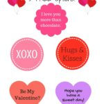 Valentine's Candy Gift Tags – 5 FREE Options