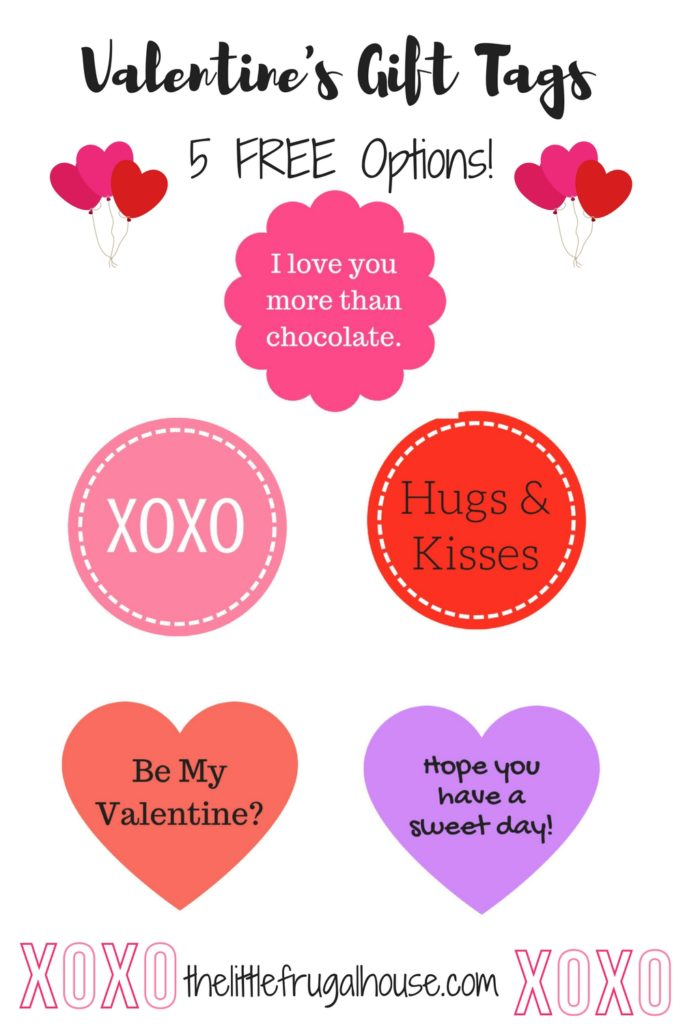 Valentine's candy gift tags - These are perfect for mason jar candy gifts, tying to a candy bar, or attaching to any small gift!