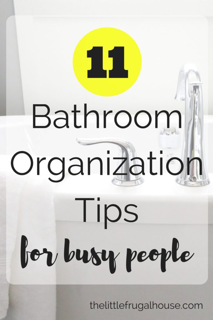 Is your bathroom one of the hardest places to organize? These bathroom organization tips for busy people will help to quickly get organized!