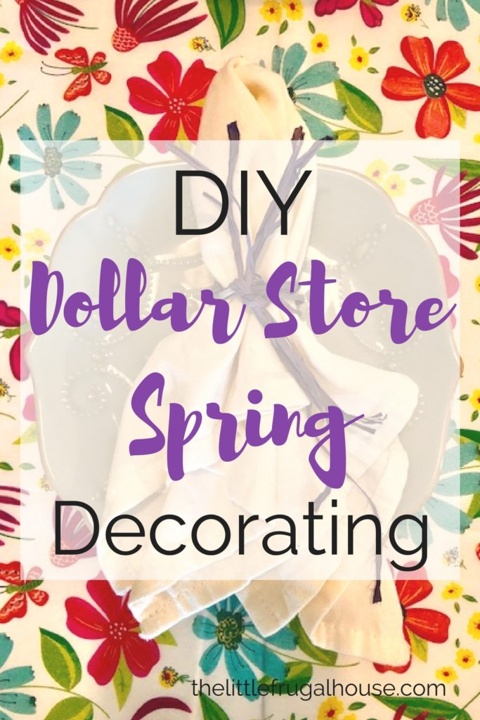 Brighten up your space for Spring with light colors and everything Spring! This DIY dollar store spring decorating post has perfect inspiration!