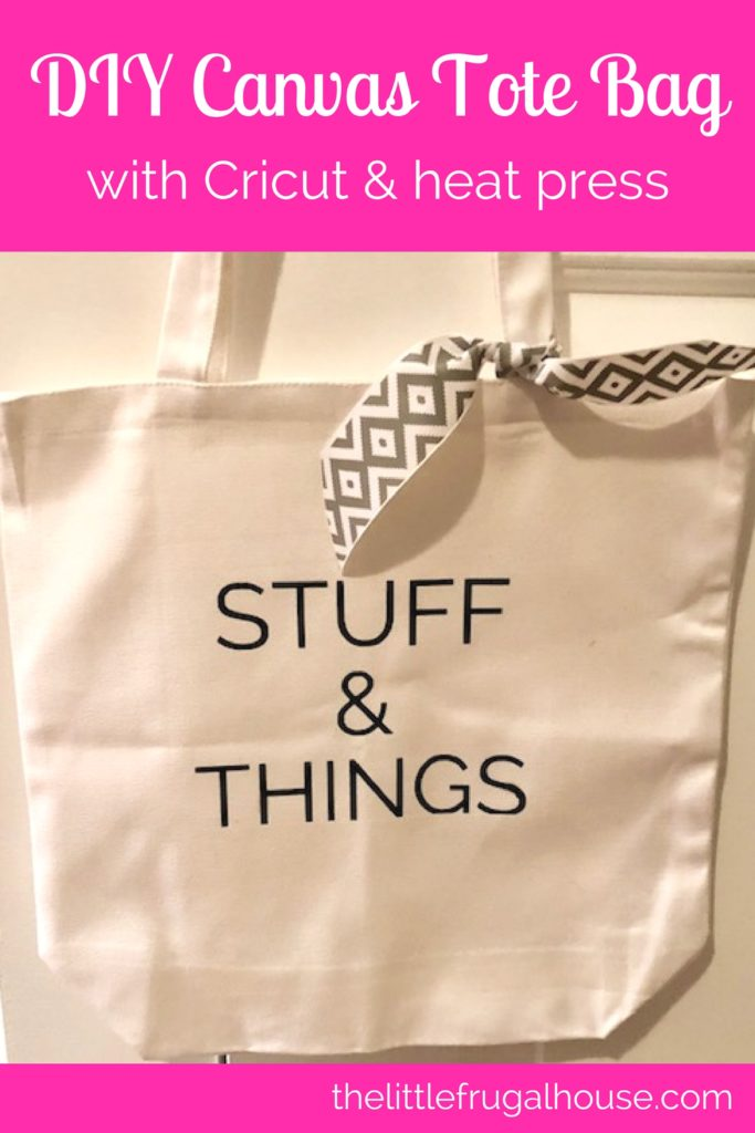Looking for a fun new Cricut project? This DIY Stuff & Things iron on tote bag is a great beginner project and the ideas are endless!