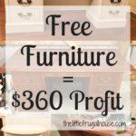 Flip for Profit: Free Furniture = $360 Profit