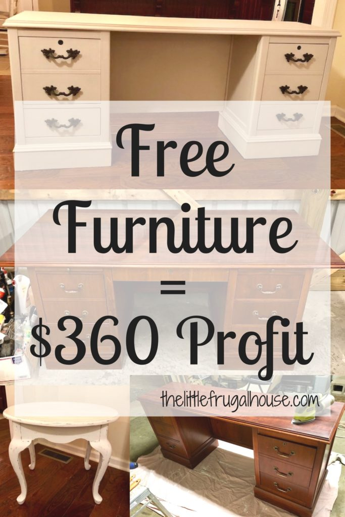 I Got All Of This Furniture For Free One Big Desk A Credenza And Small Side Table