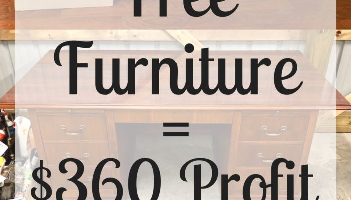 Flip for Profit: Free Furniture = $360 Profit