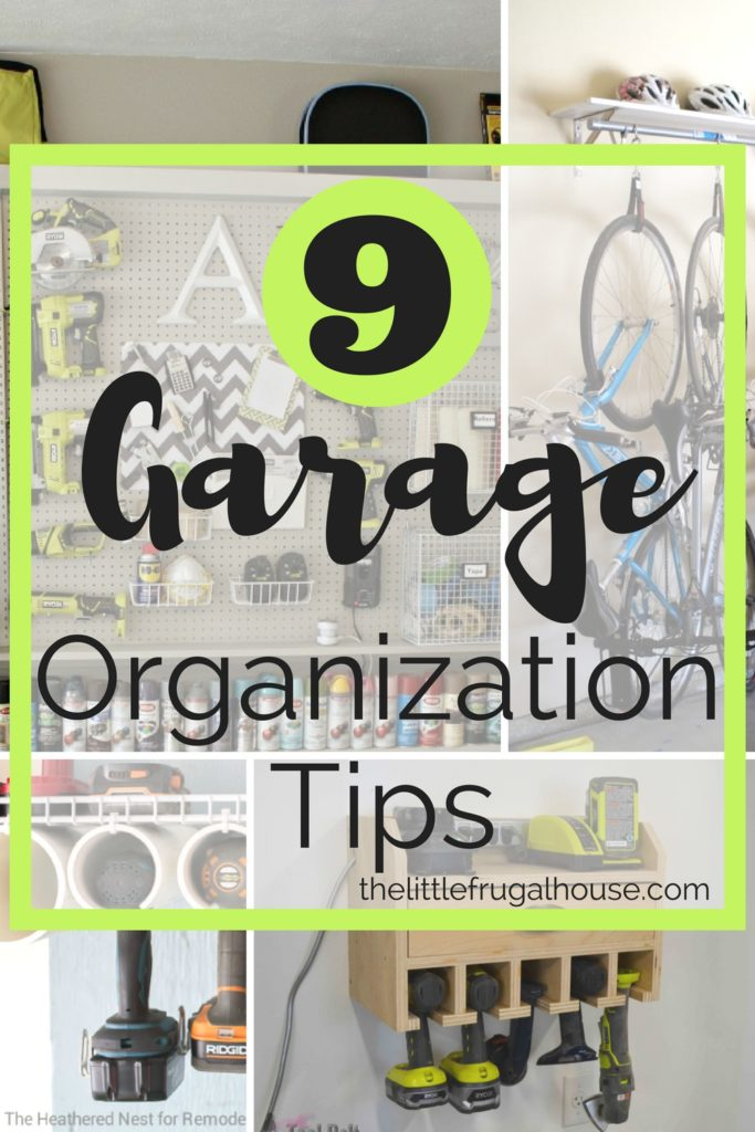 Do you struggle with organizing your garage? These top garage organization tips will help you finally get your garage organized.
