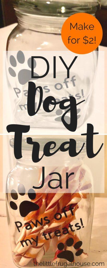 Easy Cricut Craft Diy Dog Treat Jar The Little Frugal House