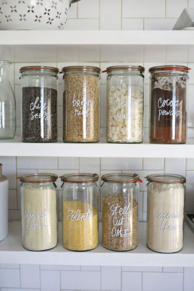 weck-jars-kitchen-storage-idea-e1469822461927 - The Little Frugal House