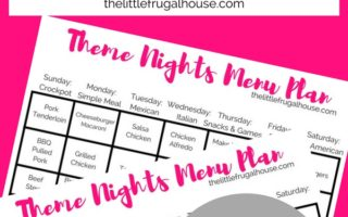 Theme Nights Meal Planning – Make Meal Planning Easier