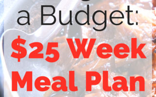 Eating on a Budget: $25 Week Meal Plan