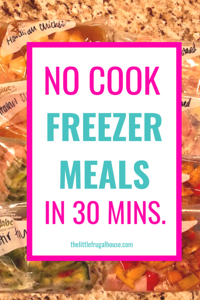 Simplify meal time and save money on food with these quick no cook chicken freezer meals. Freezer cooking makes dinnertime so much easier and you'll enjoy not wasting food or precious time.
