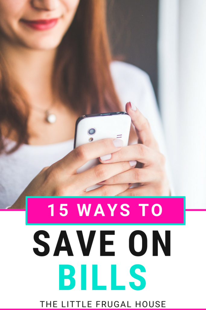 Save money every month but cutting costs on your bills. These 15 ideas of ways to save on bills will help you find new areas to save money.