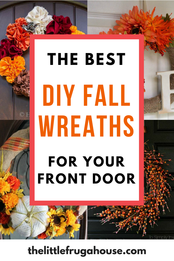 16 Easy Diy Fall Wreaths For Your Front Door The Little Frugal House