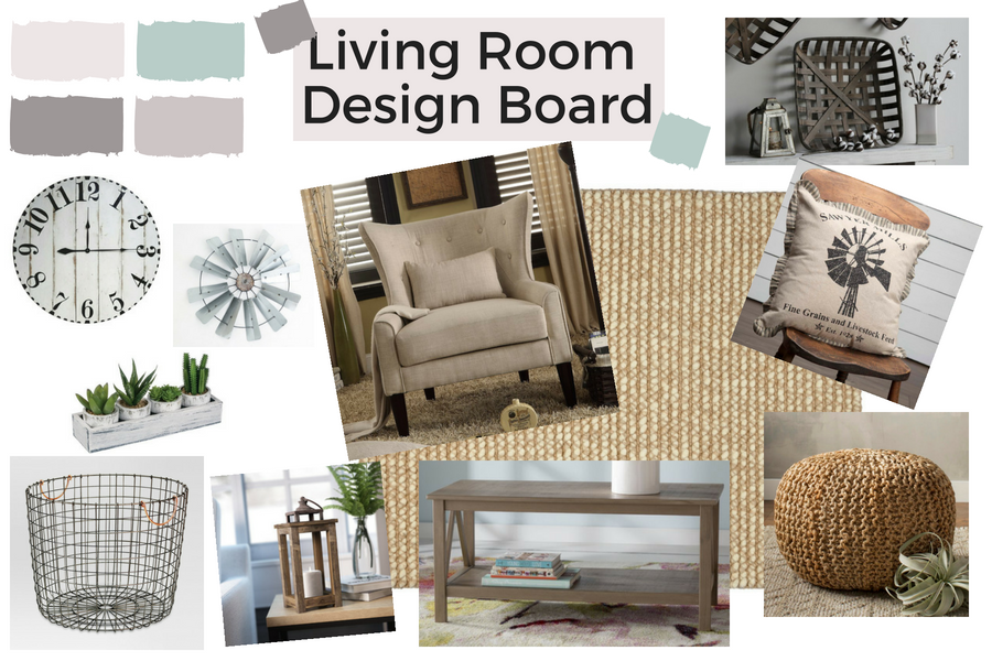 A Living Room Makeover On A Budget Starts With A Design Board, A Shopping  List