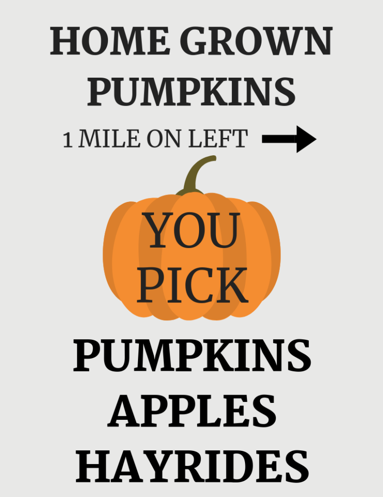 Decorate for fall on a budget with a free fall pumpkin printable. Add this printable to a frame and decorate your mantle, add kitchen décor, or even make a rustic sign.