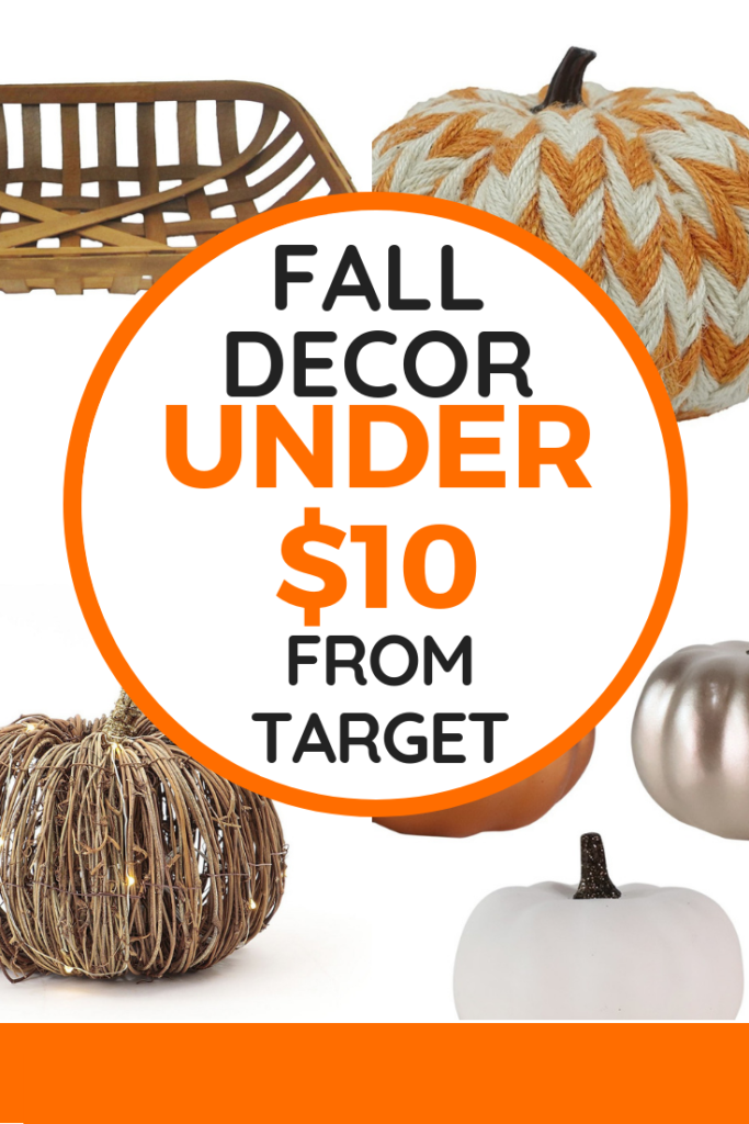 Decorate your home for fall on a budget with fall decor under $10. You can decorate on a budget by getting a few new items each season and shopping sales. These are my favorite deals from Target!